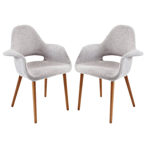 Modway Furniture Taupe Dining Armchair Set Of 2