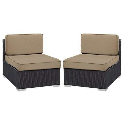 Modway Gather Armless Chair Outdoor Set of 2