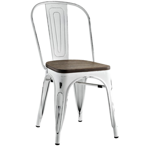 Modway Furniture Promenade Bamboo Side Chair, White - EEI-2028-WHI