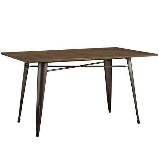 "Modway Furniture Alacrity 59"" Rectangle Wood Dining Table, Brown"