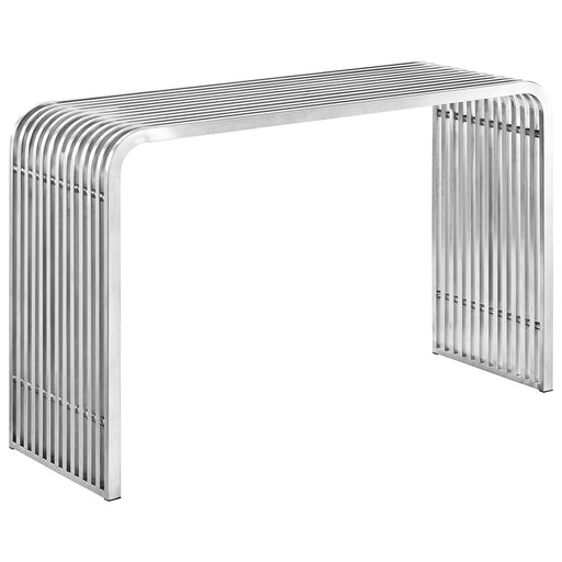 Modway Furniture Pipe Stainless Steel Console Table, Silver