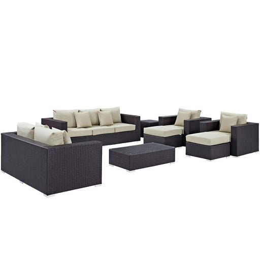 Modway Convene 9 Pc Outdoor Sofa Set