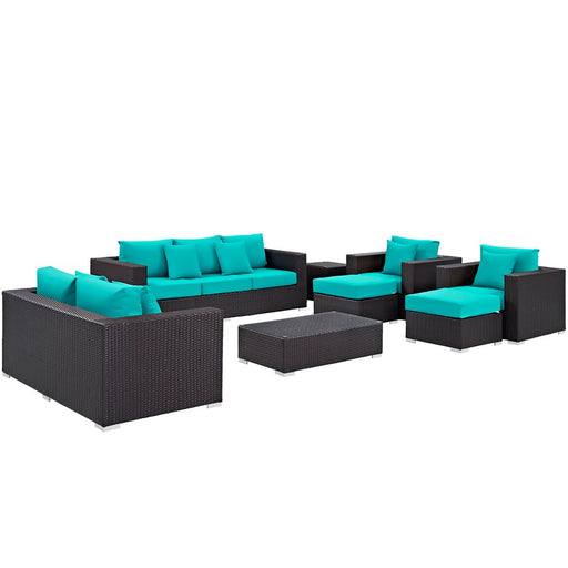 Modway Convene 9 Piece Outdoor Sofa Set