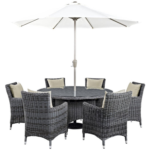 Modway Summon 8 Pc Outdoor Dining Set