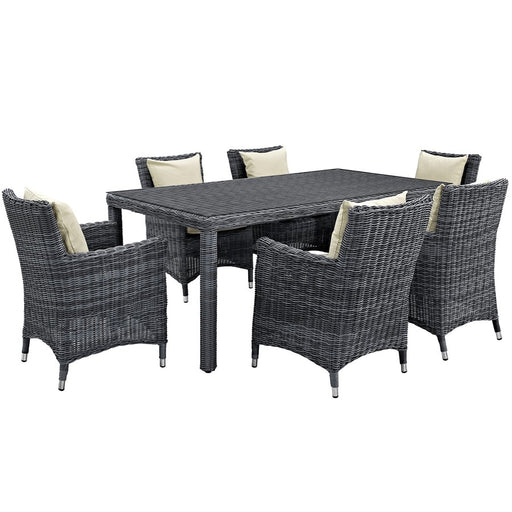Modway Summon 7 Pcs, 6 Armchairs/Large Table
