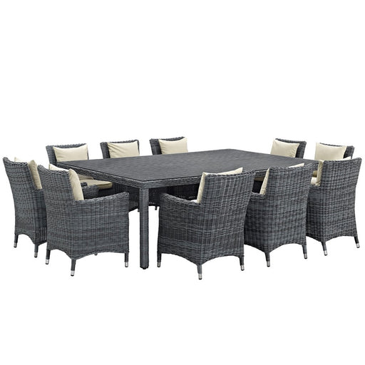 "Modway Summon 11 Pc, 10 Armchairs/91"" Table"