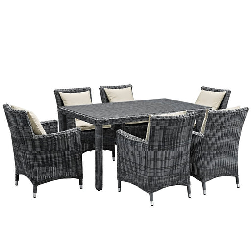 Modway Summon 7 Pcs, 6 Armchairs/Small Table