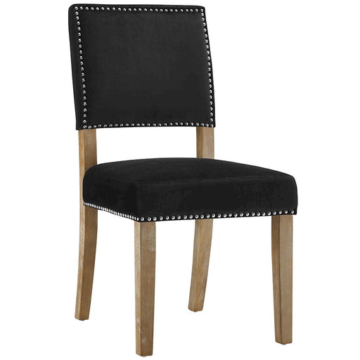 Modway Furniture Oblige Wood Dining Chair, Black