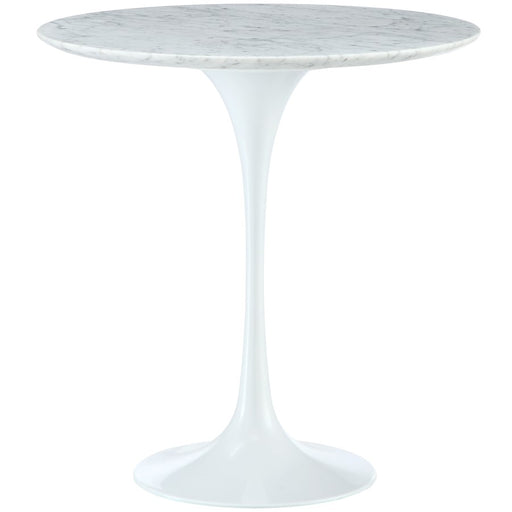 "Modway Furniture Lippa 20"" Marble Side Table, White - EEI-280-WHI"