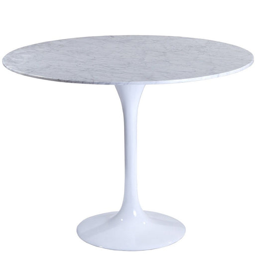 "Modway Furniture Lippa 40"" Marble Dining Table, White - EEI-512-WHI"