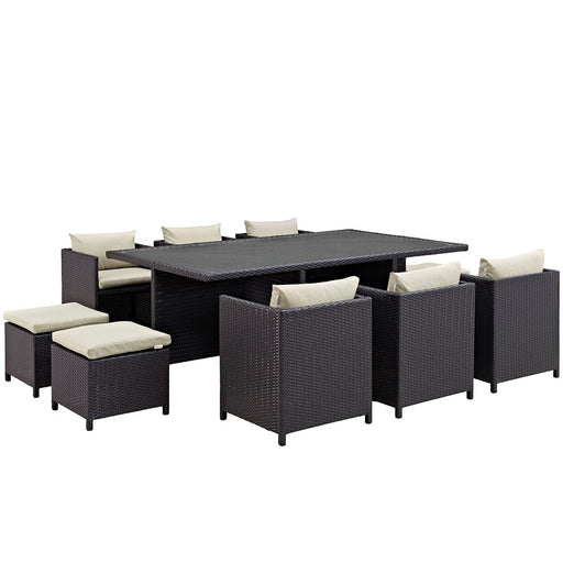 Modway Reversal 11 Pc Outdoor Dining Set