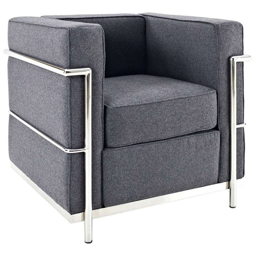 Modway Furniture Charles Petite Wool Armchair, Dark Gray - EEI-696-DGR