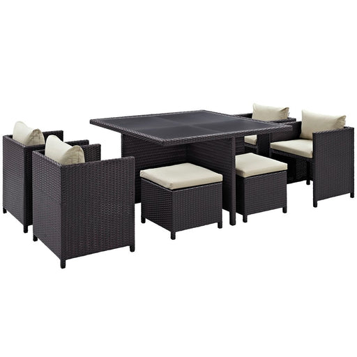 Modway Inverse 9 Pc Outdoor Patio Dining Set