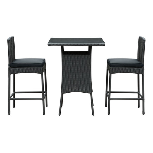 Modway Cerveza 3 Pc Outdoor Patio Pub Set, Black  - EEI-835-BLK-BLK-SET