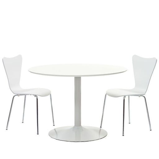 Modway Furniture Revolve 3 Piece Dining Set, White