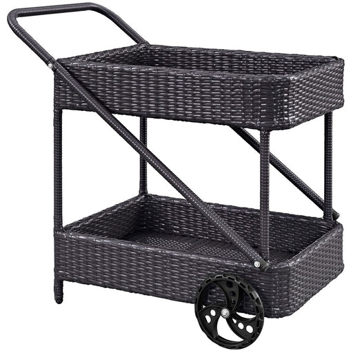 Modway Furniture Replenish Outdoor Patio Beverage Cart, Espresso - EEI-970-EXP