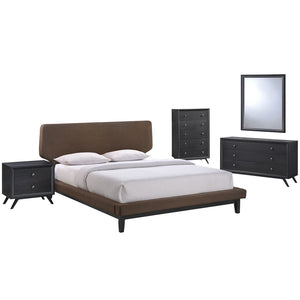 Modway Bethany 5 Pc Queen Bed Set w/ Chest