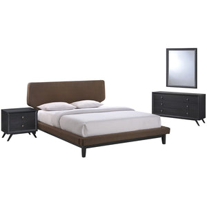 Modway Bethany 4 Pc Queen Bedroom Set