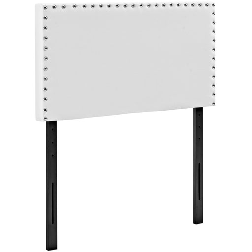 Modway Furniture Phoebe Twin Vinyl Headboard, White - MOD-5381-WHI
