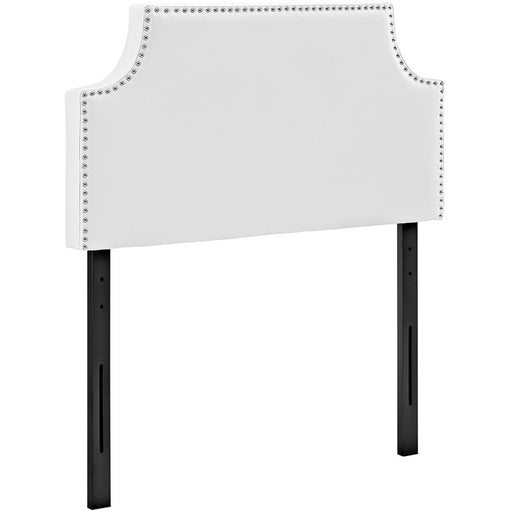 Modway Furniture Laura Twin Vinyl Headboard, White - MOD-5389-WHI