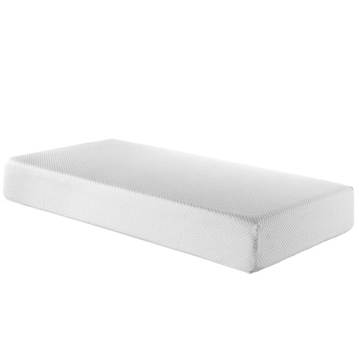 "Modway Furniture Aveline 10"" Twin Mattress, White - MOD-5487-WHI"