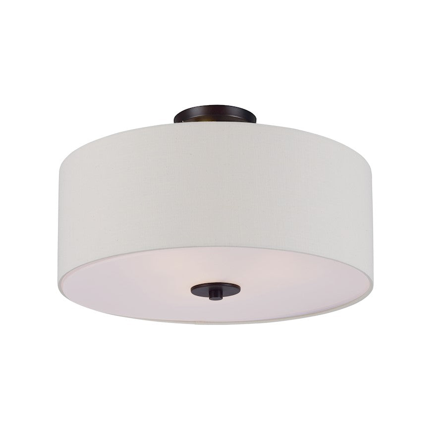"Maxim Lighting 11"" Bongo 3 Light Flush Mount"