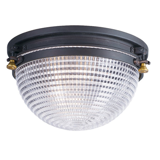 Maxim Lighting Portside 1-Light Flush Mount, Oil Rubbed Bronze/Brass