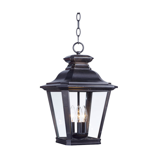 "Maxim Lighting 17.5"" x 11"" Knoxville 3 Light Outdoor Pendant, Bronze"