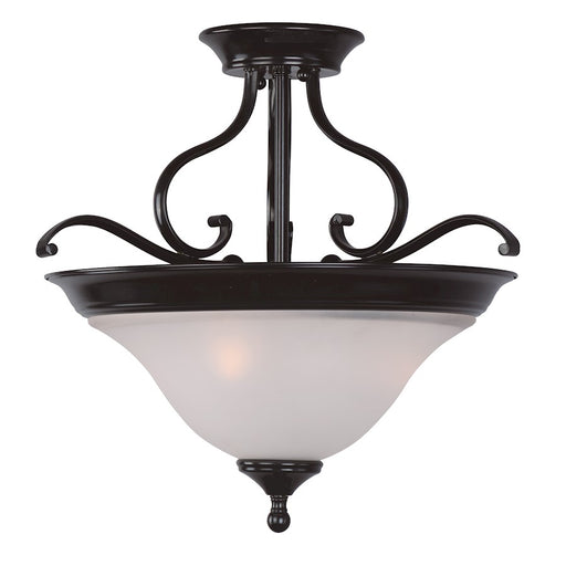 Maxim Lighting Linda 3-Light Semi-Flush Mount, Black