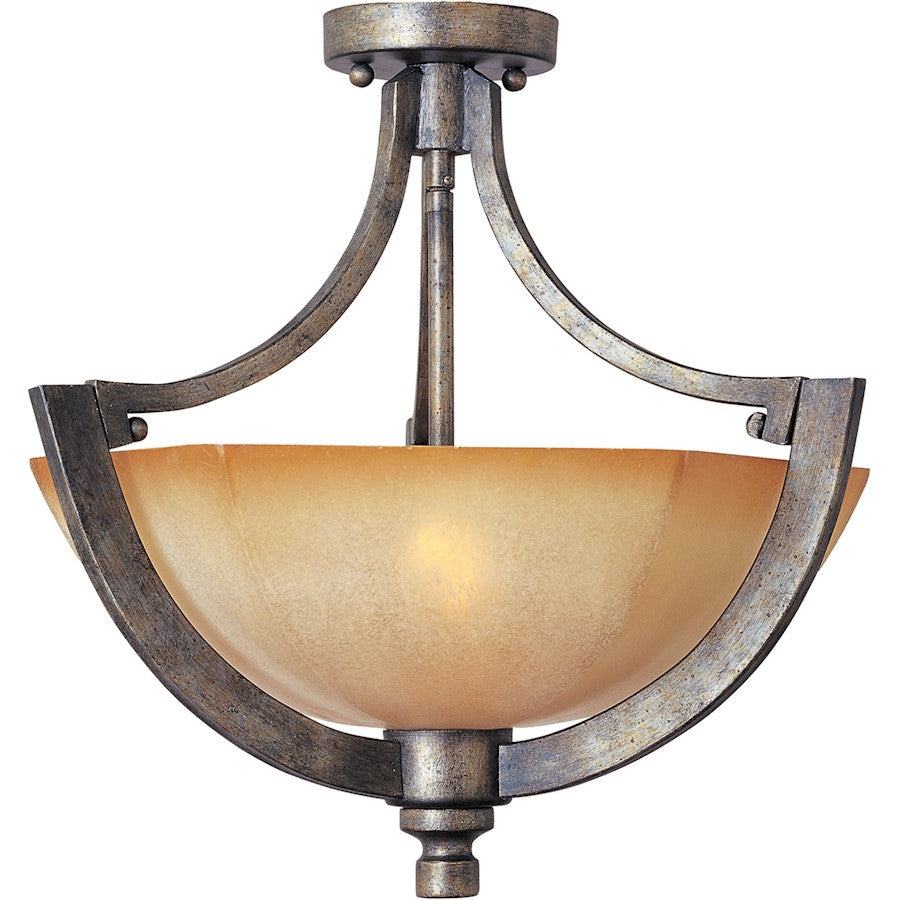 Maxim Lighting Moda 2-Light Semi-Flush Mount, Florentine