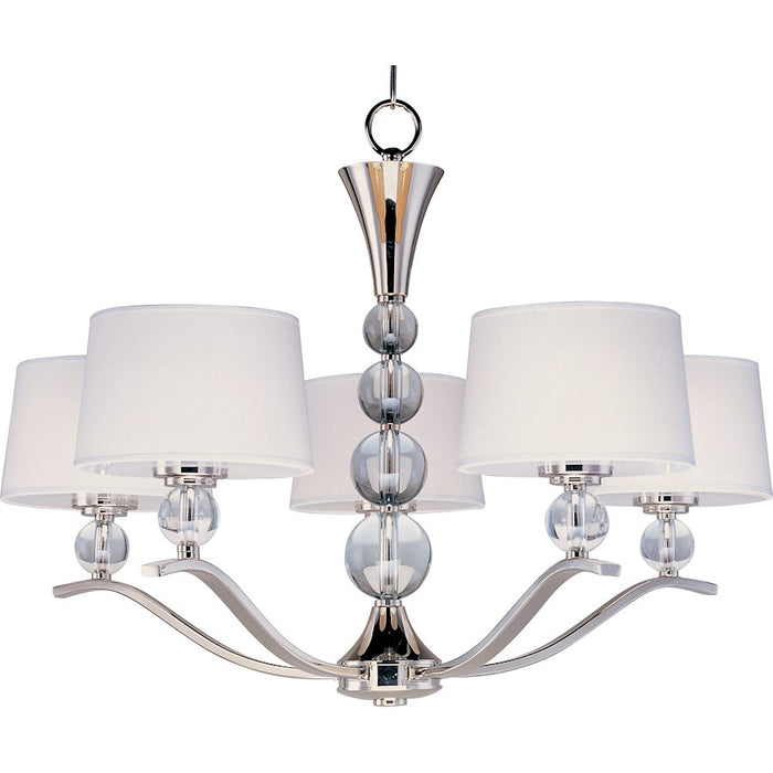 Maxim Lighting Rondo 5-Light Chandelier Polished Nickel