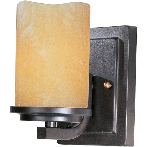 Maxim Lighting Luminous 1 Light Wall Sconce, Rustic Ebony
