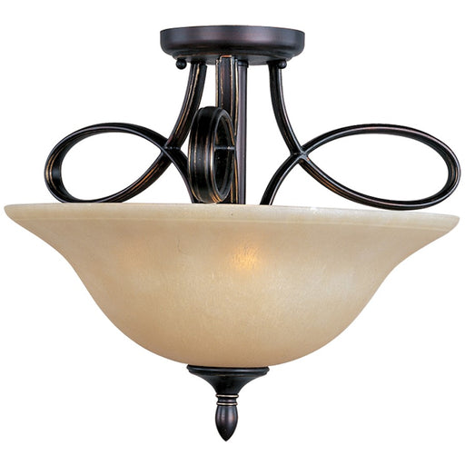 Maxim Infinity 3-Light Semi-Flush Mount, Oil Rubbed Bronze