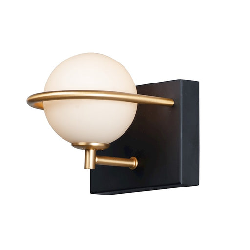 Maxim Lighting Revolve LED 1-Light Wall Sconce, Black/Gold