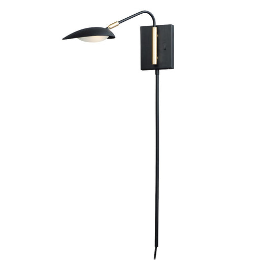 Maxim Lighting Scan LED Pin-Up Sconce, Black/Brass