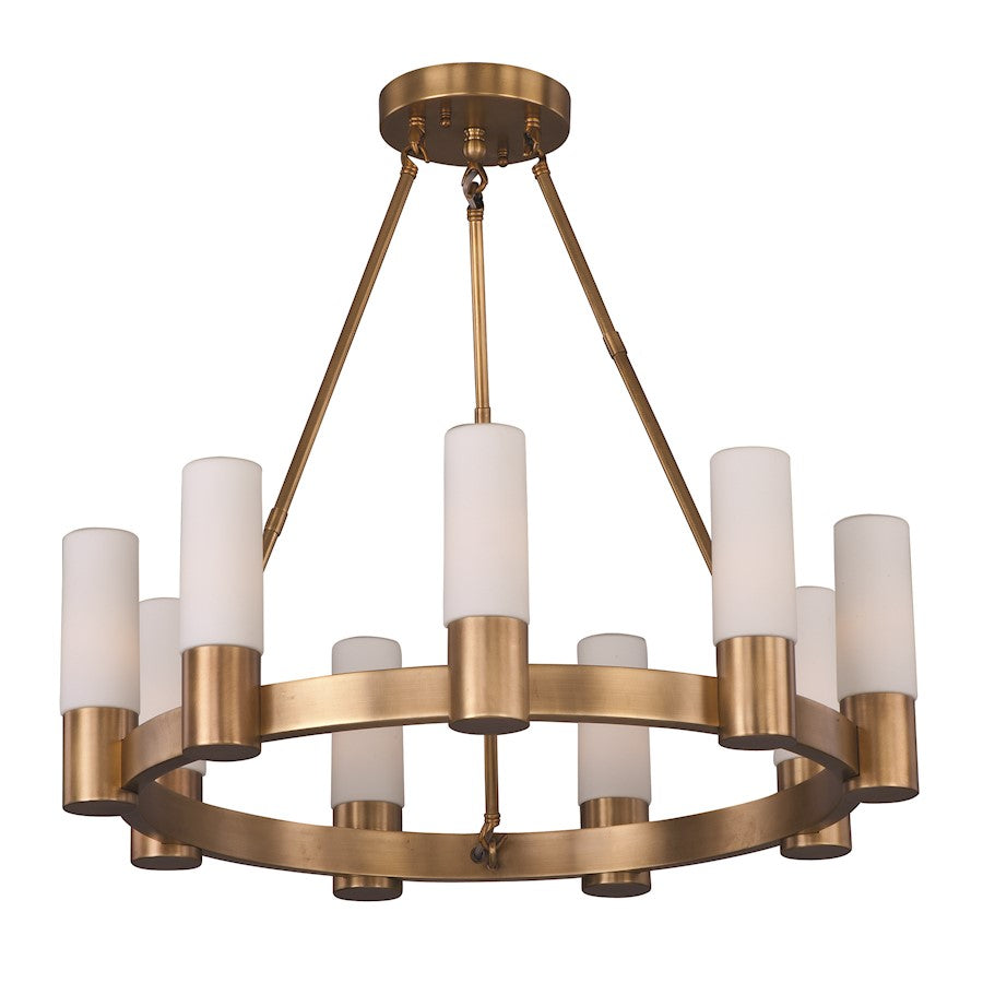 Maxim Lighting Contessa Single Tier Chandelier, Natural Aged Brass