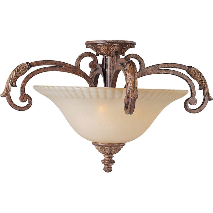 Maxim Beaumont 3-Light Semi-Flush Mount, Golden Fawn