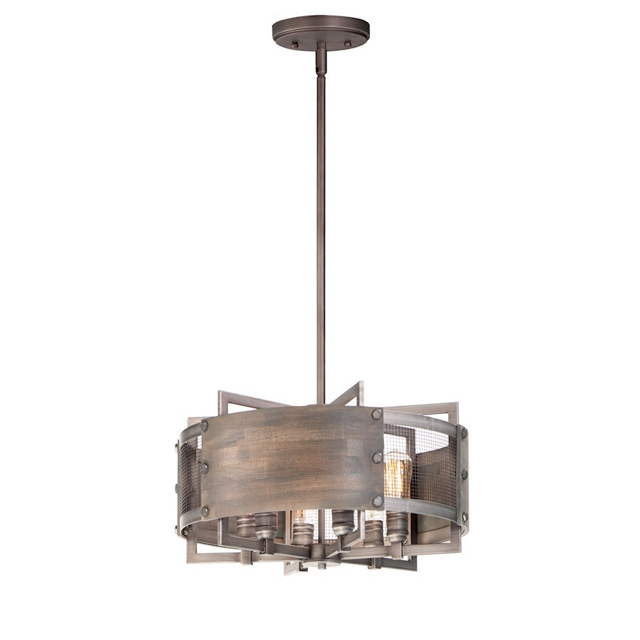 Maxim Lighting Outland Pendant, Barn Wood/Weathered Zinc