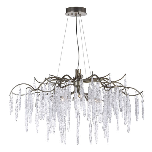 Maxim Lighting Willow Chandelier, Silver Gold