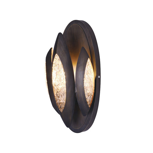 Maxim Lighting Lotus 1 Light Wall Sconce, Burnished Bronze