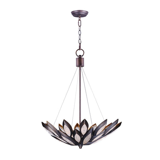 Maxim Lighting Lotus Pendant, Burnished Bronze