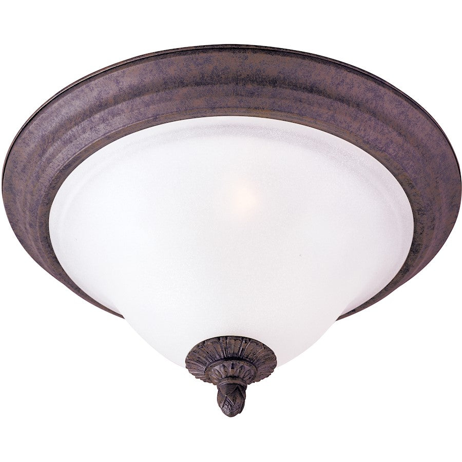 Maxim Lighting Canyon Rim 2-Light Flush Mount, Canyon Rock