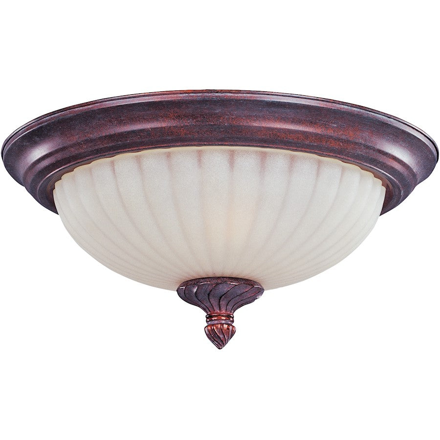 Maxim Lighting Via Roma 2-Light Flush Mount, Greek Bronze