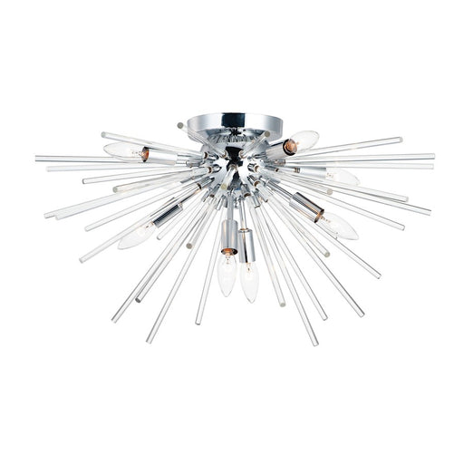 Maxim Lighting Polaris 8-Light Flush Mount, Polished Chrome