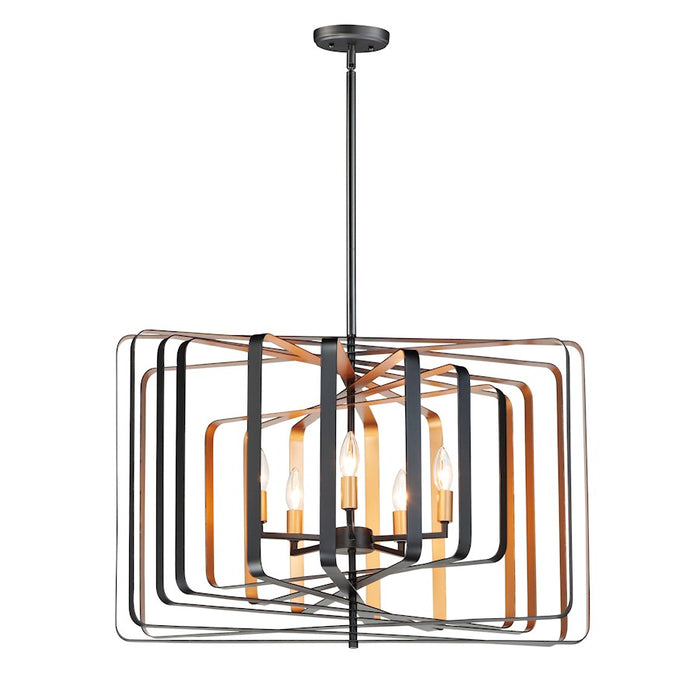Maxim Lighting Radial 5-Light Pendant, Black/Gold