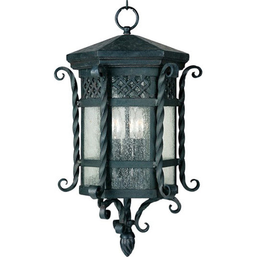 Maxim Scottsdale 3-Light Outdoor Hanging Lantern, Country Forge