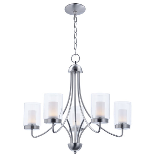Maxim Lighting Mod 5 Light Chandelier, Satin Nickel