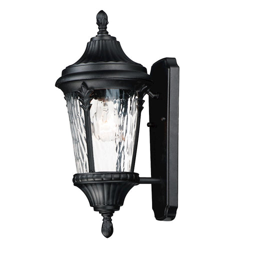 Maxim Lighting Sentry 1-Light Small Outdoor Wall Sconce, Black