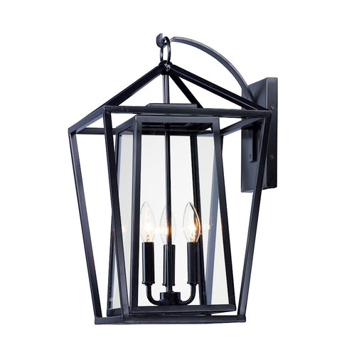 Maxim Lighting Artisan 3-Light Outdoor Wall Sconce, Black