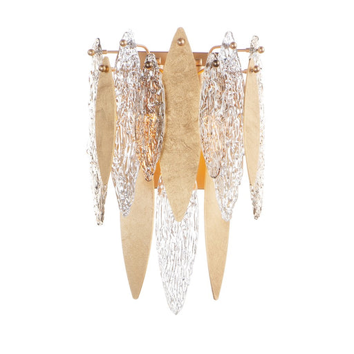 Maxim Lighting Majestic 3-Light Wall Sconce in Gold Leaf - 32322CLCMPGL